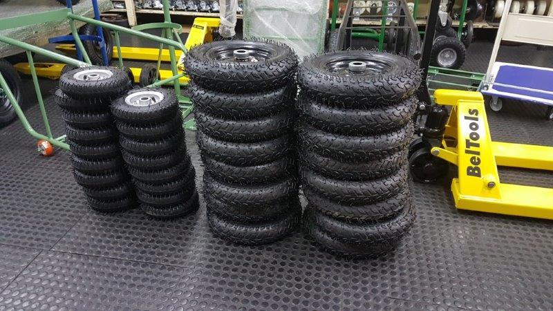 Aros e rodas para pneus de uso industrial