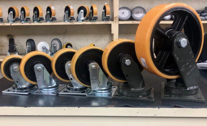 Rodas e rodízios para carrinhos industriais